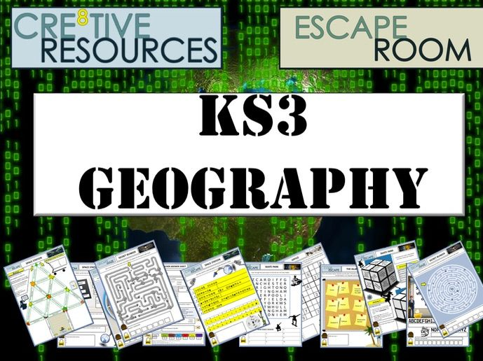 KS3 Geography Escape room - End of Year