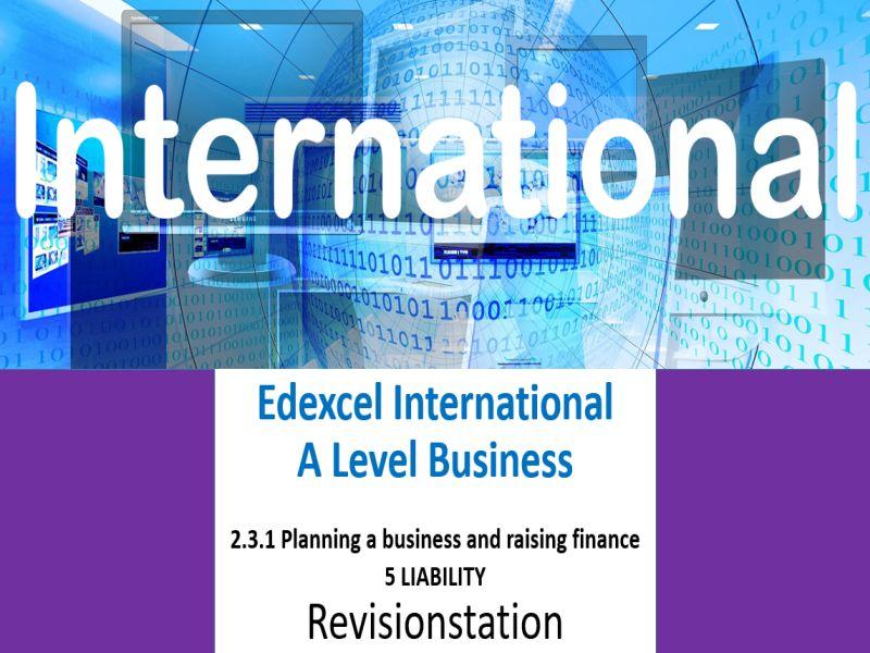 Pearson Edexcel International A Level Business (231) 5 Liability
