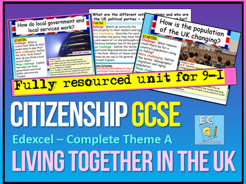Edexcel Citizenship Theme A