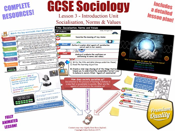 Socialisation, Norms & Values - Introduction Unit L3/12 - GCSE Sociology