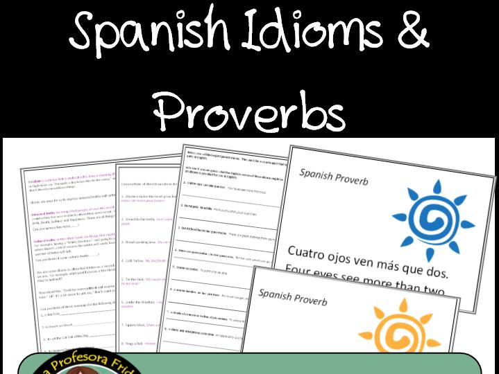 Spanish Idioms, Sayings, Dichos
