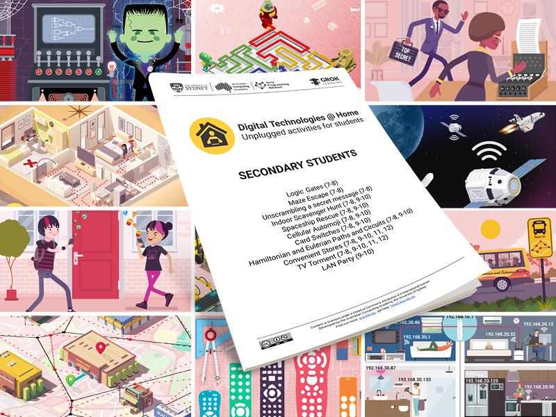 DT @ Home Secondary Workbook (computing activity)