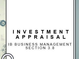 IB Business Management Investment Appraisal