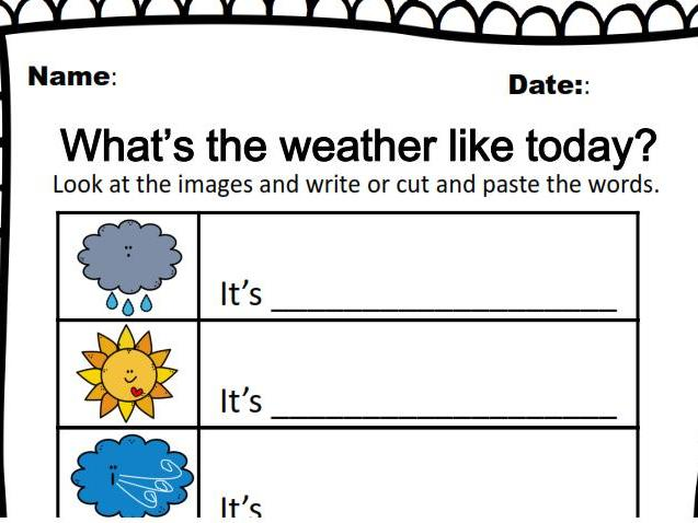 Printable: What's the weather like today?