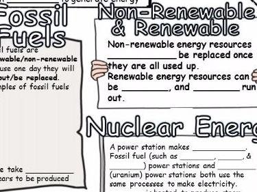Energy Sources Revsion