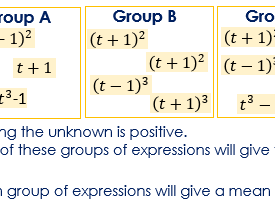 Crossover with Algebra, Mean and Median