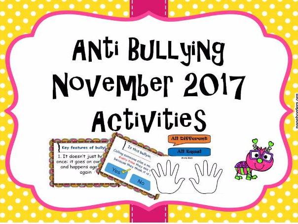 Anti bullying Week  Activities Worksheets