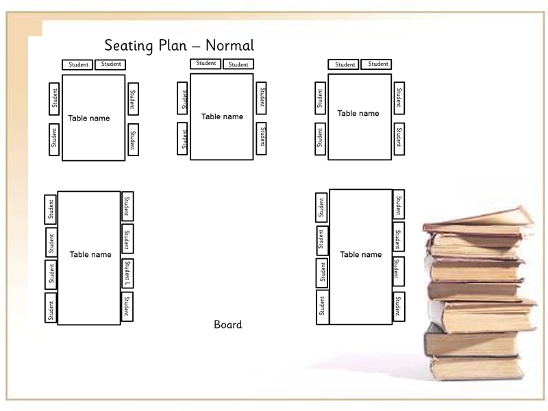 Editable setting plan