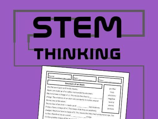 Structure of an Atom Homework Worksheet, Chemistry