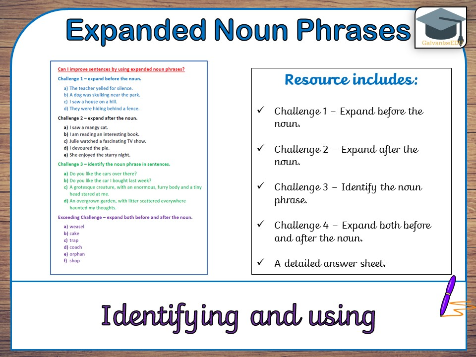 expanded noun phrases ks2 homework