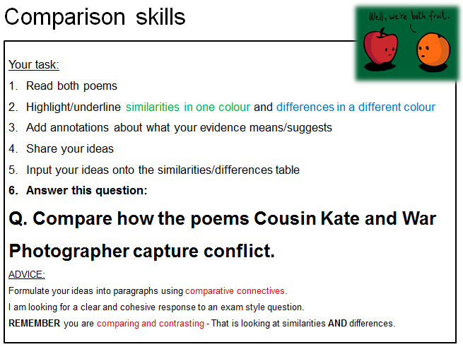 Edexcel Conflict Poetry Example Question By Catadams Teaching