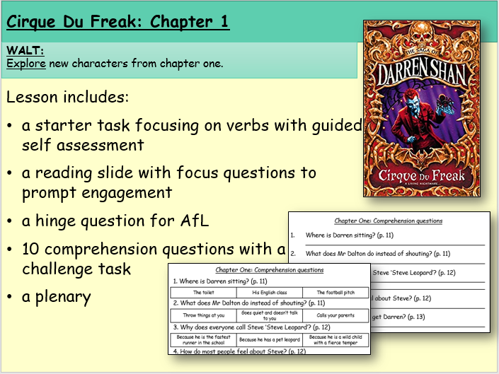Cirque du Freak: Chapter One (Reading and Comprehension)