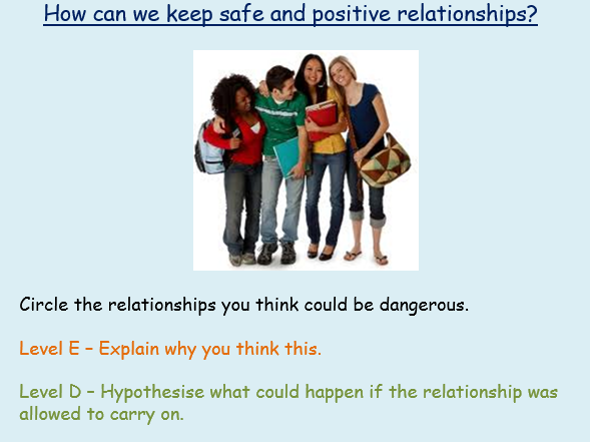 PSHE Safe Relationships