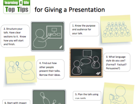 Top Tips for Giving a Presentation