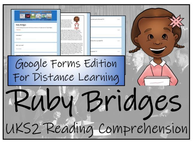 UKS2 Ruby Bridges Reading Comprehension & Distance Learning Activity