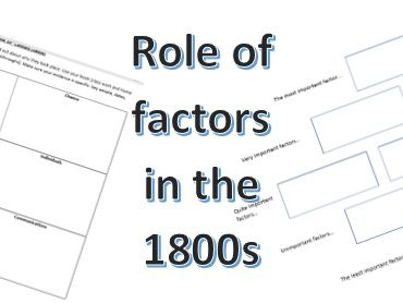 Revision Activity: Factors affecting medicine in the 1800s