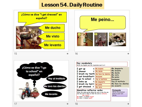 Lesson 54 Spanish. Daily Routine