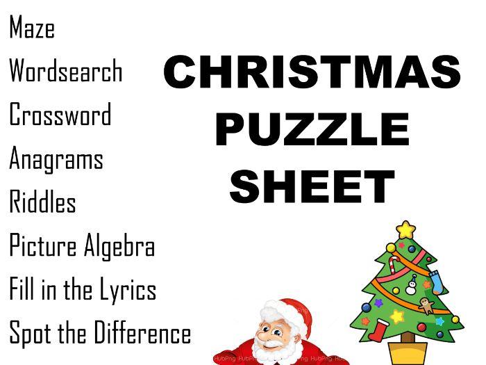 Christmas Puzzle Sheet