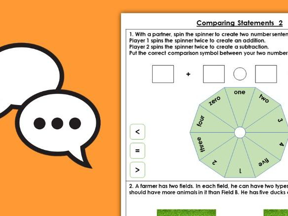 Year 1 Compare Statements 2 Autumn Block 2 Maths Discussion Problems