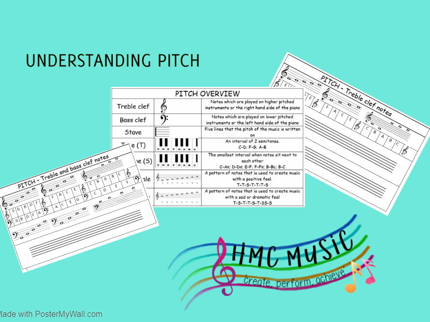 Understanding Pitch - a collection of worksheets