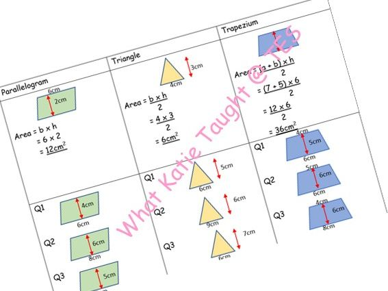 Area Consolidation Worksheet