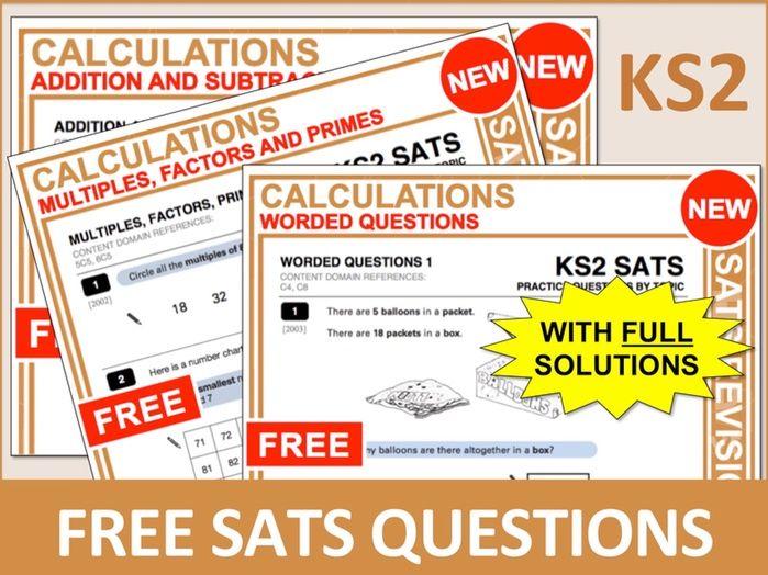 SATs Bundle (Calculations)