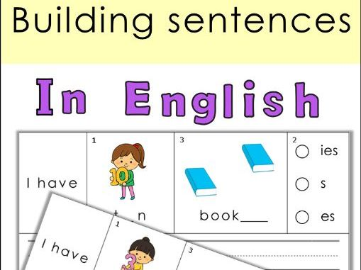 Building Sentences Set VI  Plural Nouns