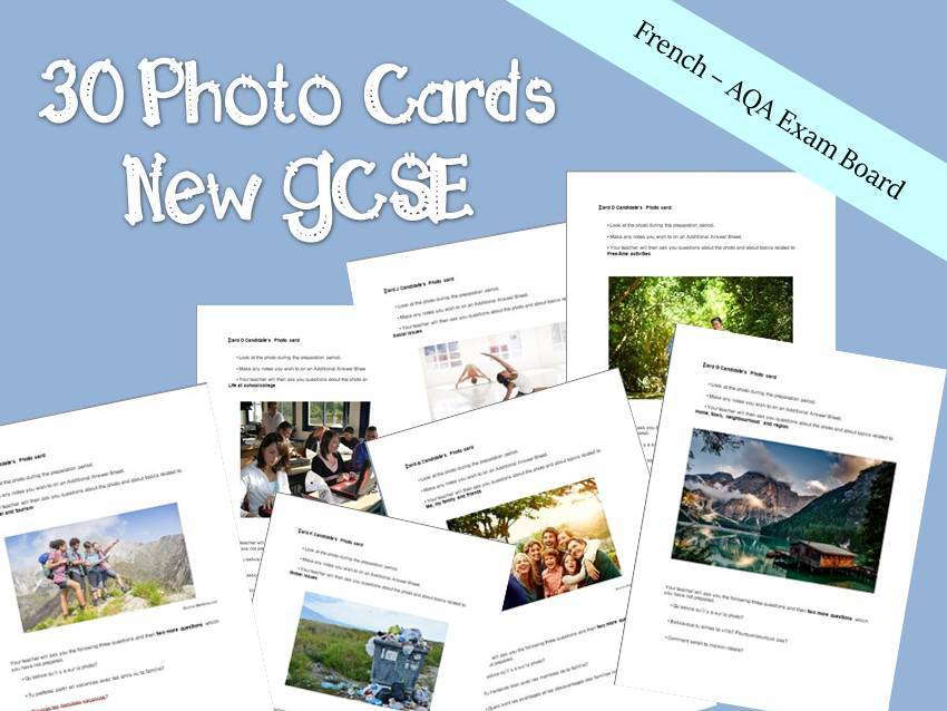 New GCSE - Photo Card - French speaking Exam