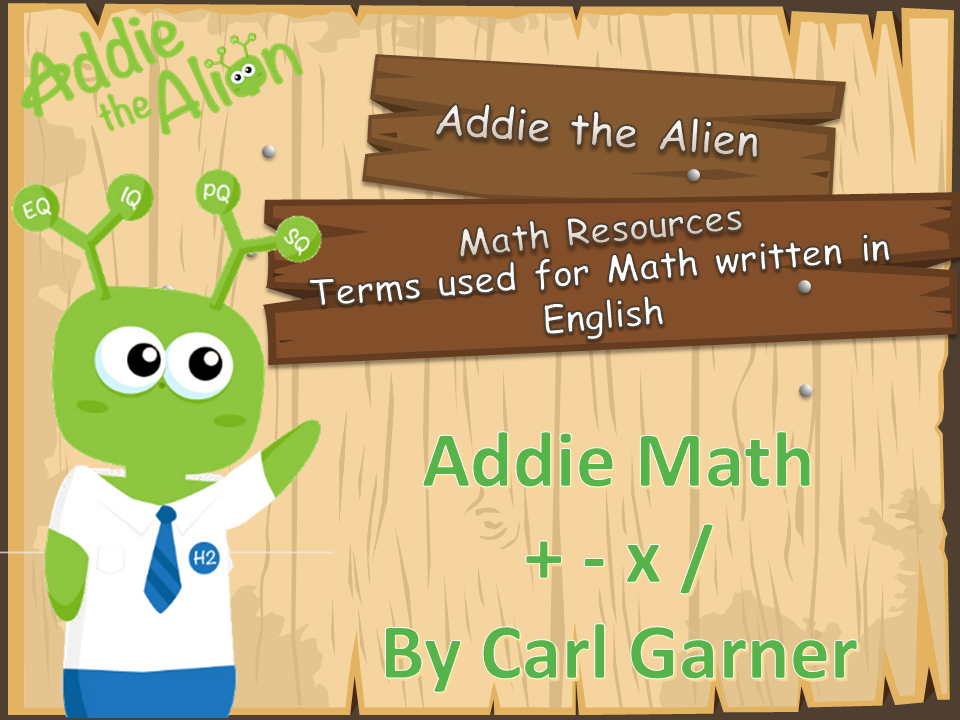 Addie the Alien - Visual Aids for Math Language