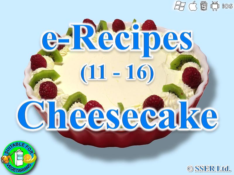 8. Cheesecake (e-Recipe)