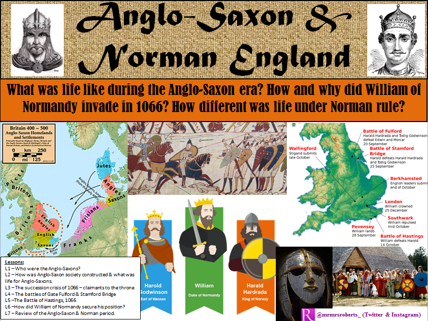 KS3 - Anglo-Saxon & Norman England - L1 - Who were the Anglo-Saxons?