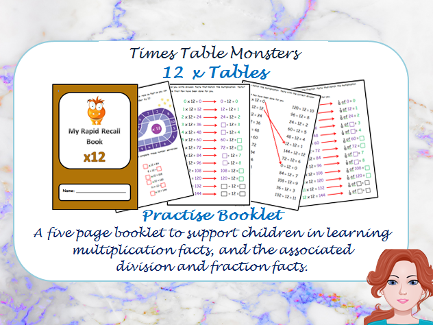 12 x Tables Practise booklet