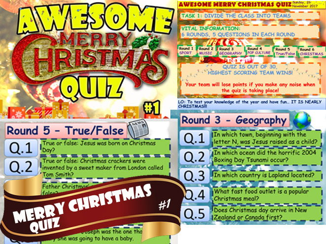 CHRISTMAS QUIZ #1 AWESOME