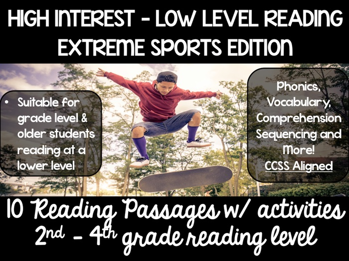 High Interest Guided Reading Passages - Extreme Sports