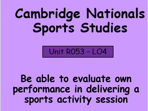 OCR-Sport Studies (R053) Sports Leadership