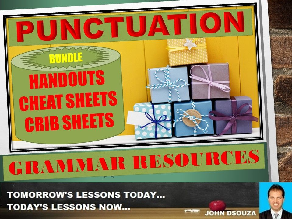 PUNCTUATION HANDOUTS BUNDLE