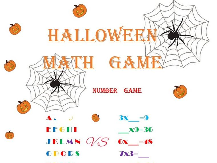 MATH GAME HALLOWEEN/SPELLING GAME
