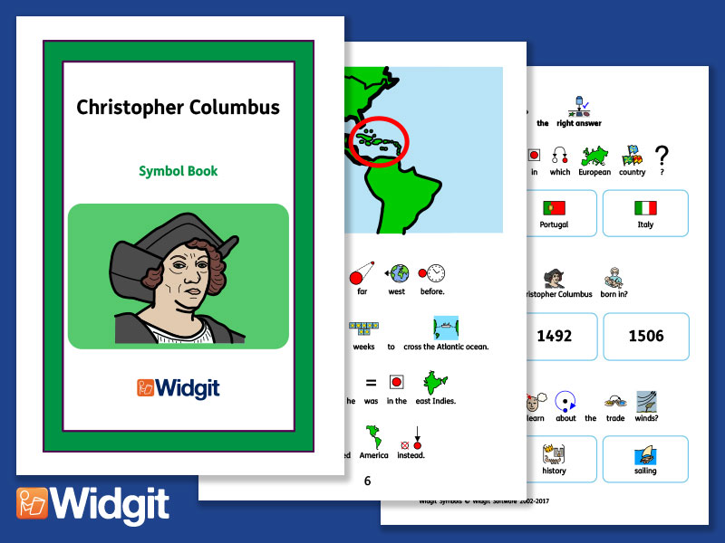 Christopher Columbus - Books and Activities with Widgit Symbols