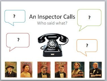 An Inspector Calls - Who Said What?