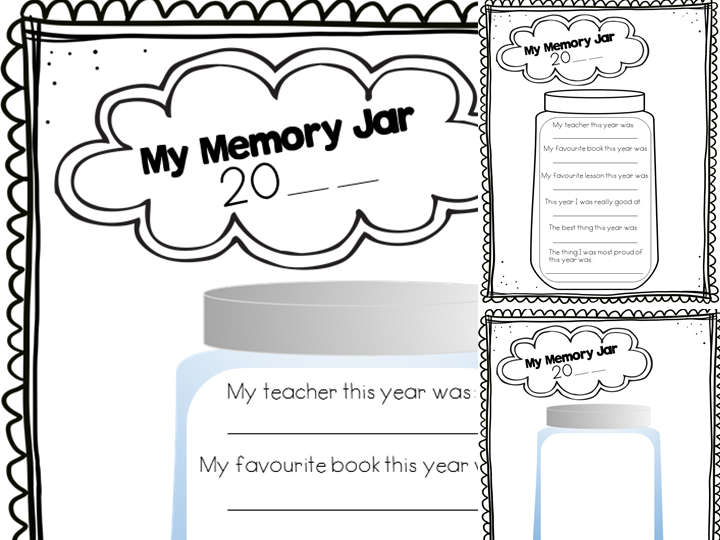 End Of Year Memory Jar