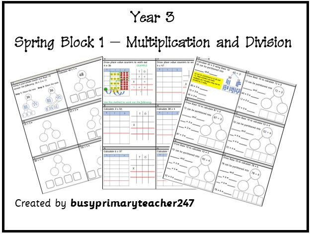 Year 3 - Spring block 1 - week 2 - Multiplication and Division