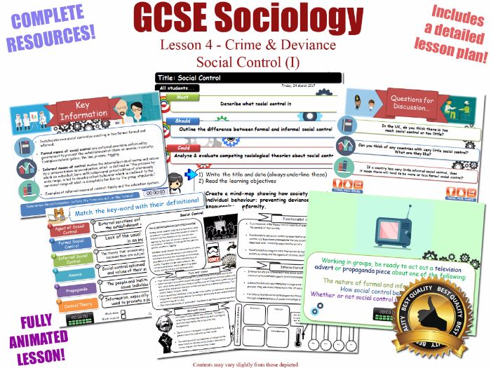 Social Control (Formal vs Informal) - Crime & Deviance L4/20 [ WJEC EDUQAS GCSE Sociology] NEW KS4