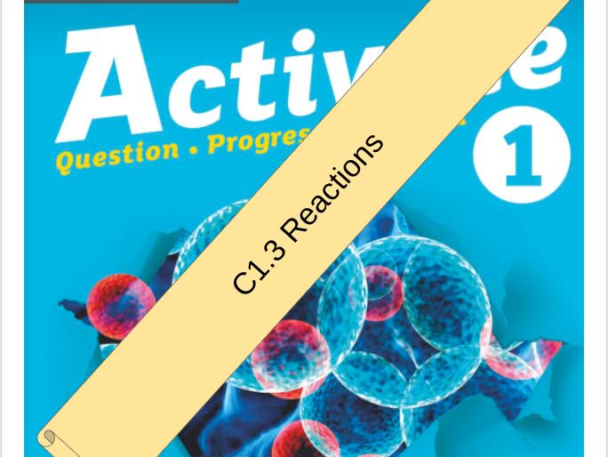 KS3 Activate 1 Bundle: C3 Reactions