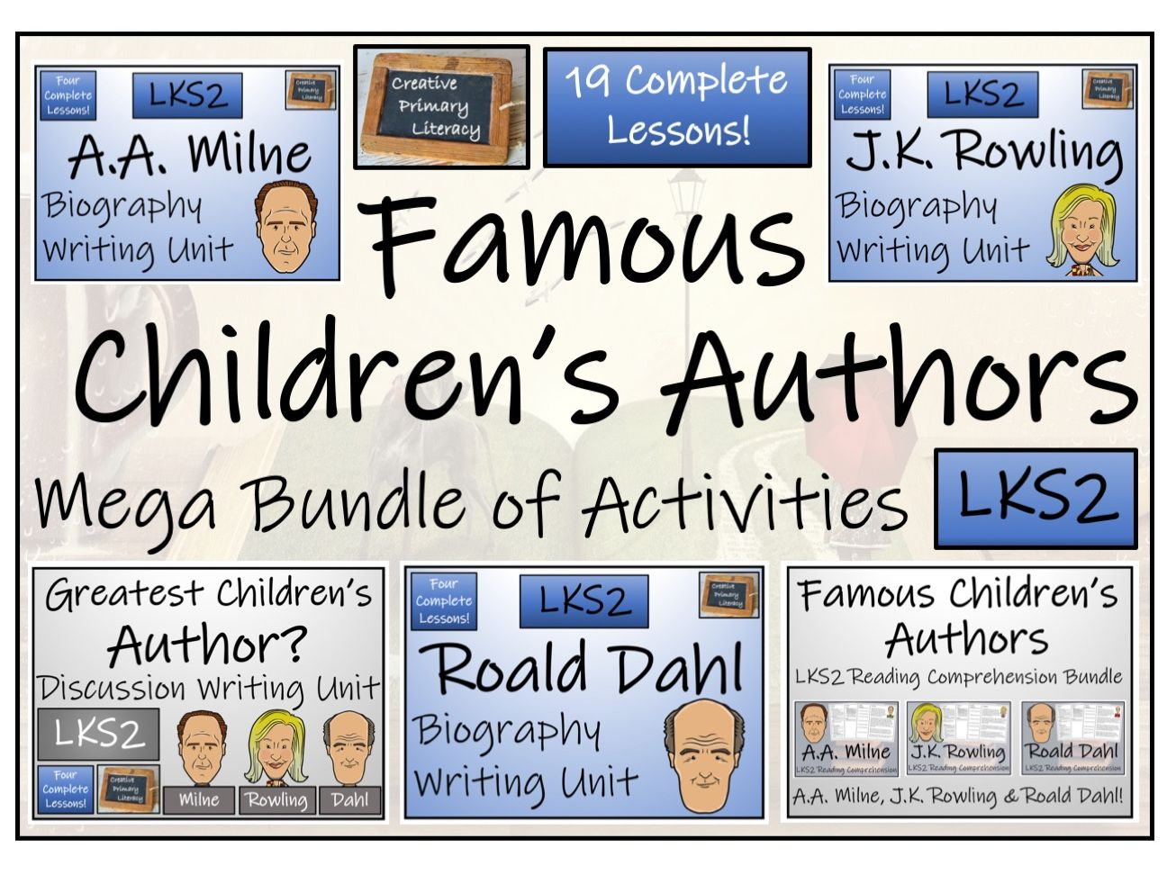 LKS2 Literacy - Famous Children's Authors Mega Bundle of Reading & Writing Activities