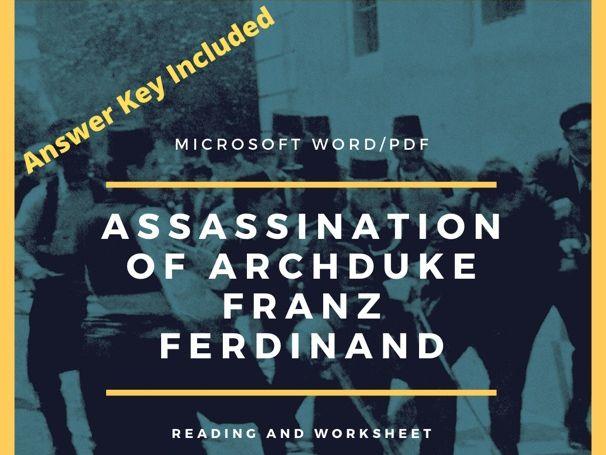 Assassination of Franz Ferdinand Worksheet