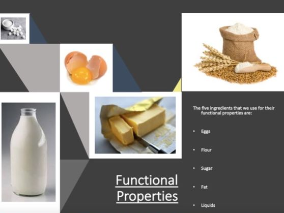 Unit 3 - Level 3 Food Science and Nutrition - Theory for AC 1.1 Food Properties