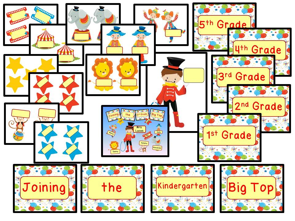 Back to School Bulletin Board - Circus Theme