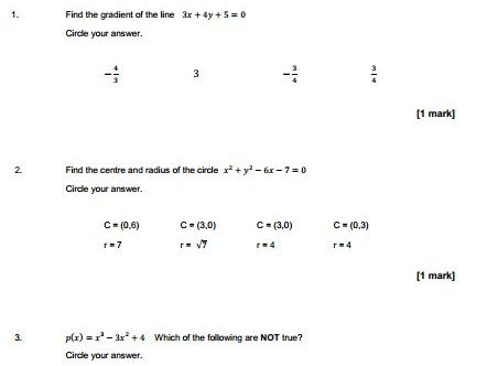 NEW AQA Maths  AS/A-level Assessment (Pure Questions only)