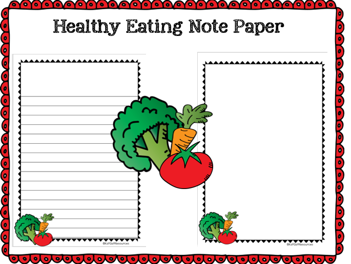 Healthy Eating Notepaper