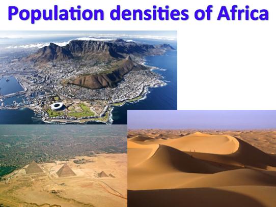 KS3 Africa - Population densities of Africa